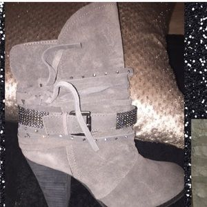 Naughty monkey grey ankle boots